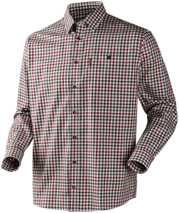 Milford shirt Beetroot check