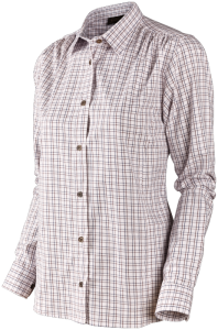 Preston Lady shirt Merlot check