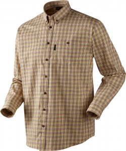 River L/S shirt Antique gold check