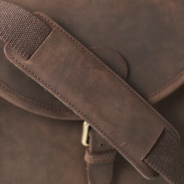 Harkila Cartridge bag in leather Shadow brown f/125 bullets